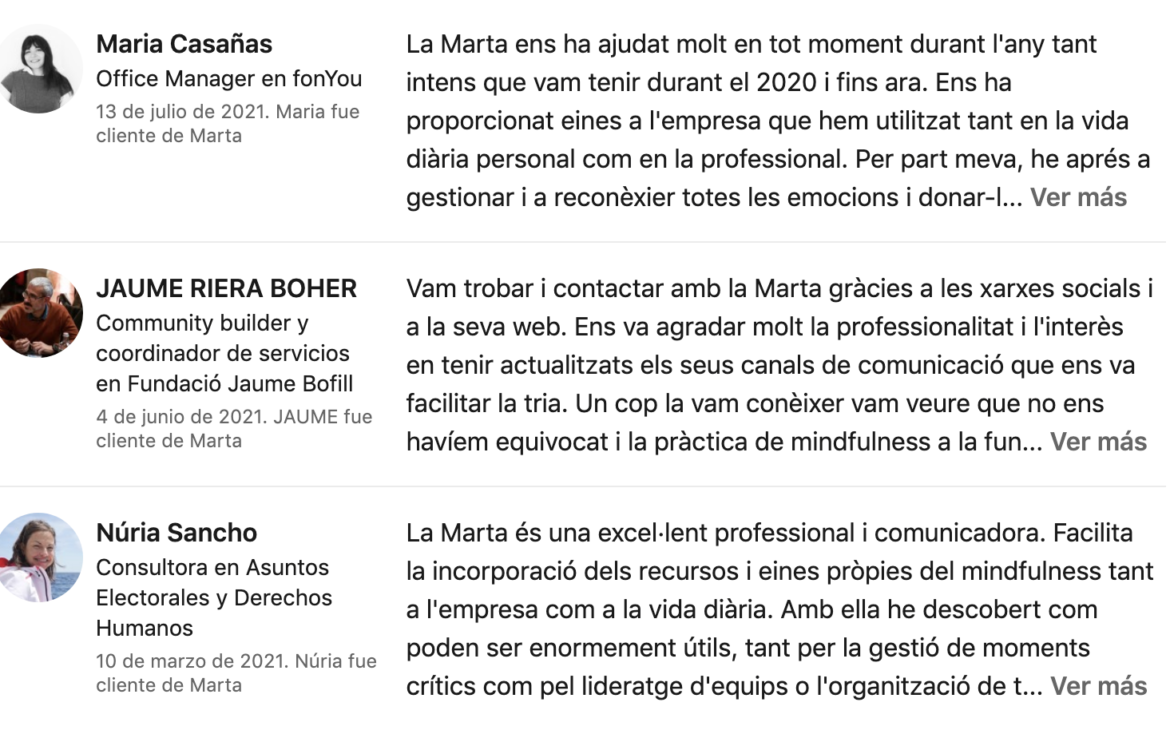 Mindfulness Empreses Opinions